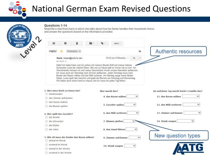 National German Exam Revised Questions