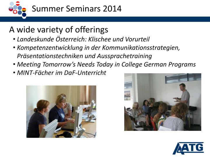 Summer Seminars 2014