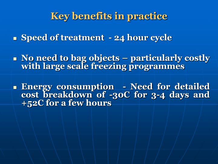 Key benefits in practice