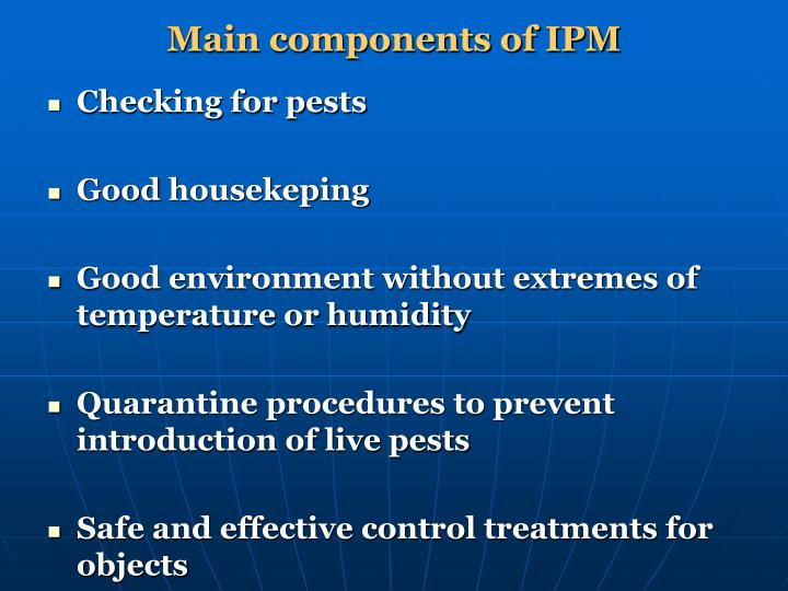 Main components of IPM