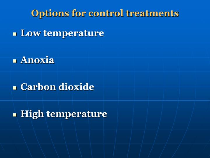 Options for control treatments