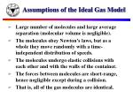 assumptions of the ideal gas model