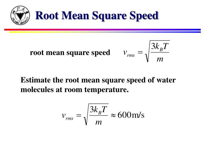 Root Mean Square Speed