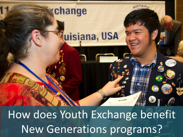 How does Youth Exchange benefit New Generations programs?