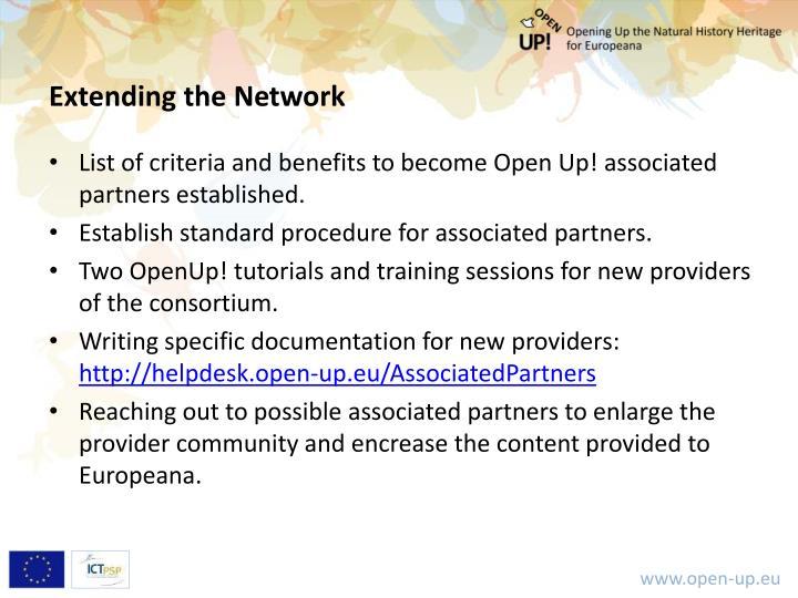Extending the Network