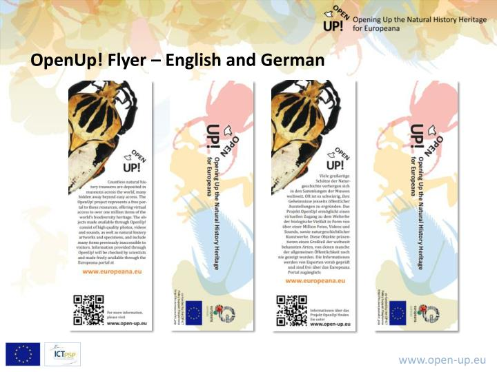 OpenUp! Flyer – English and German