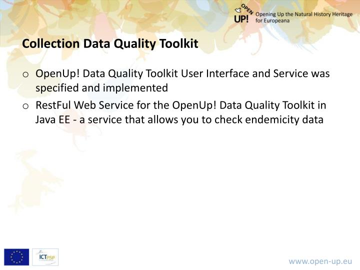 Collection Data Quality Toolkit