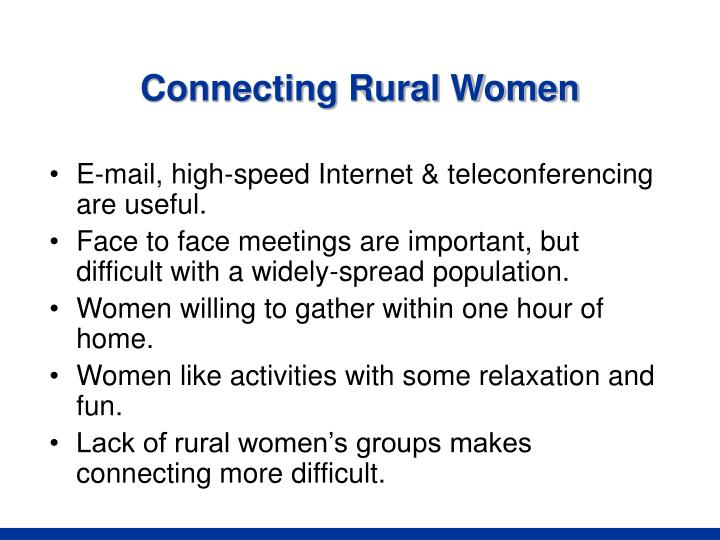 Connecting Rural Women