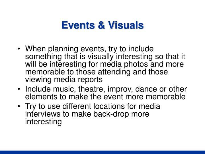 Events & Visuals
