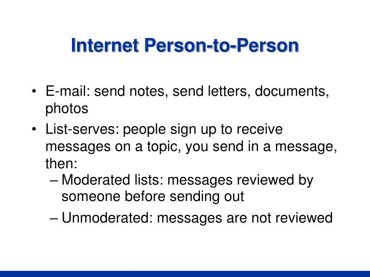 Internet Person-to-Person