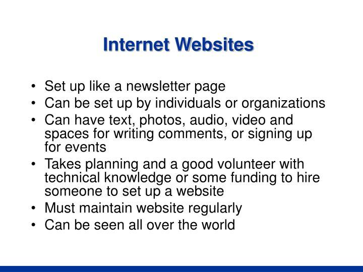 Internet Websites