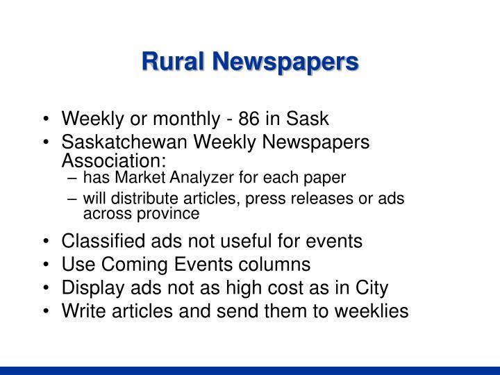 Rural Newspapers