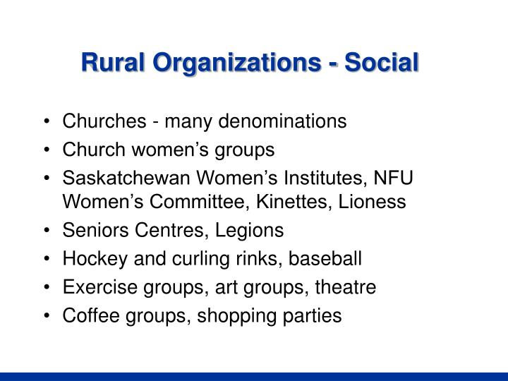 Rural Organizations - Social