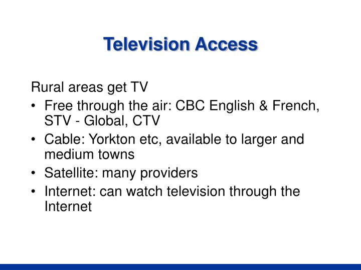 Television Access
