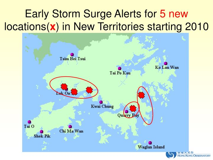 Early Storm Surge Alerts for