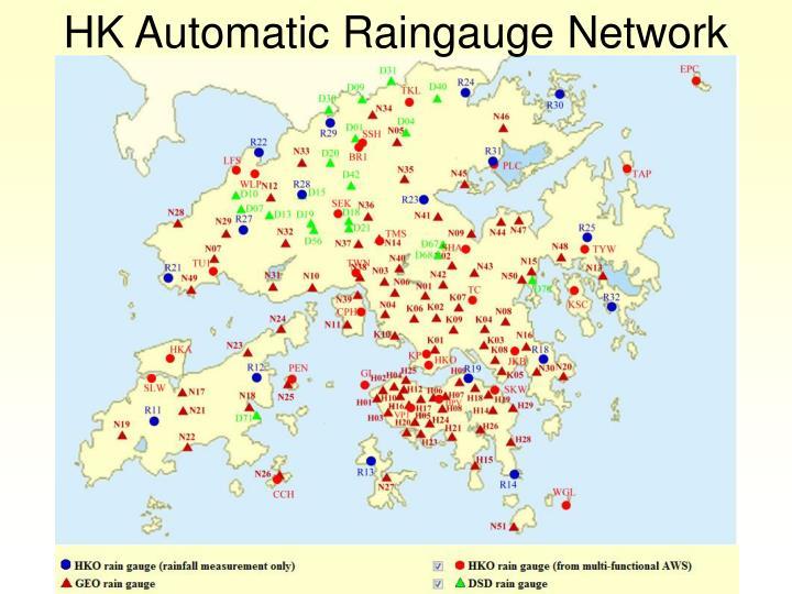 HK Automatic Raingauge Network