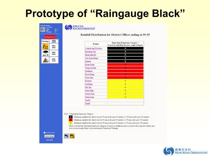 """Prototype of """"Raingauge Black"""""""