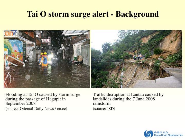 Tai O storm surge alert
