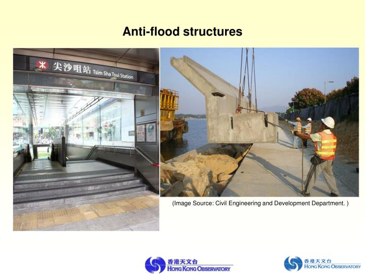 Anti-flood structures