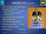dsm m2 unit mg ads oaa
