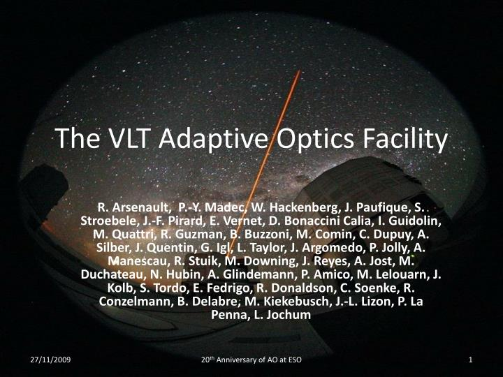 the vlt adaptive optics facility