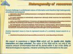 heterogeneity of resources