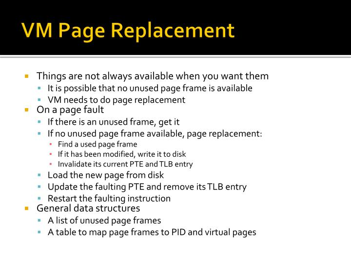 VM Page Replacement