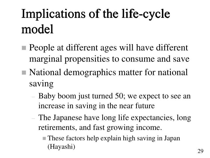 Implications of the life-cycle model