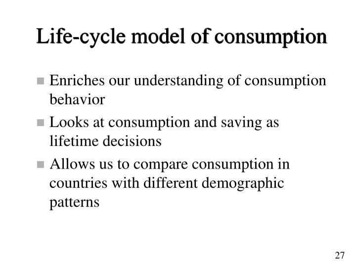 Life-cycle model of consumption