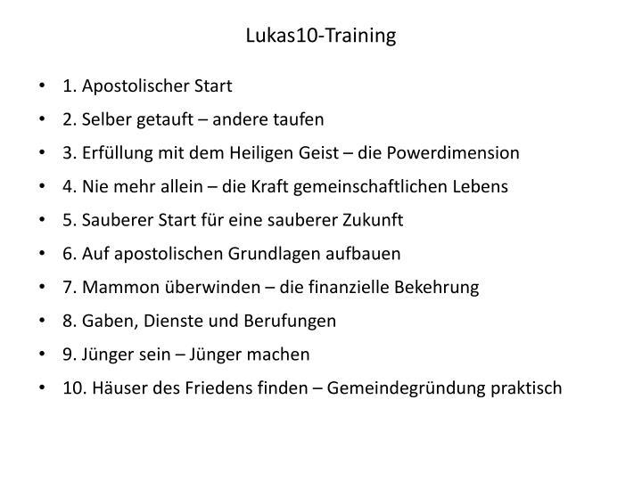 Lukas10-Training