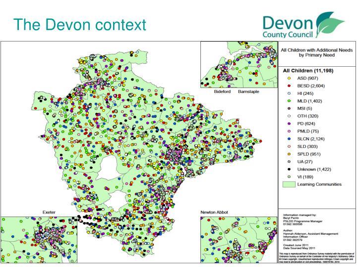 The Devon context