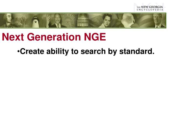 Next Generation NGE