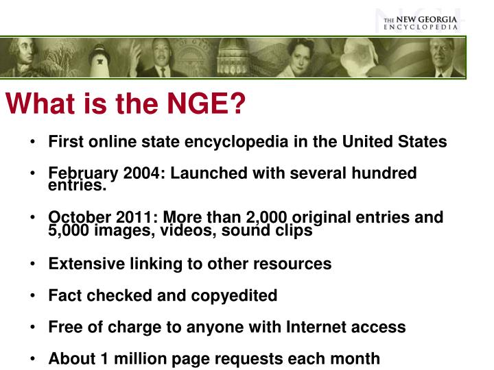 What is the NGE?