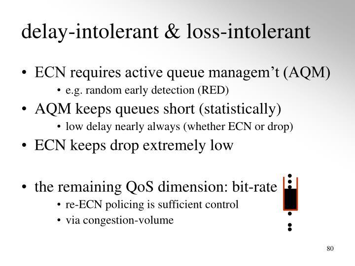 delay-intolerant & loss-intolerant