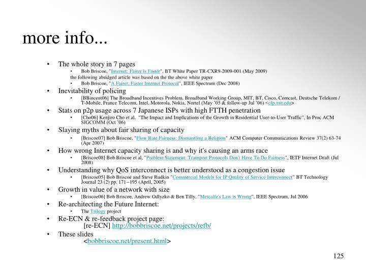 more info...