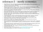 references i mostly economics