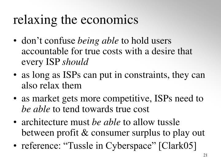 relaxing the economics
