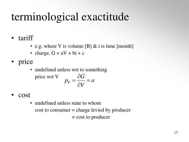 terminological exactitude