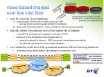 value based charges over low cost floor