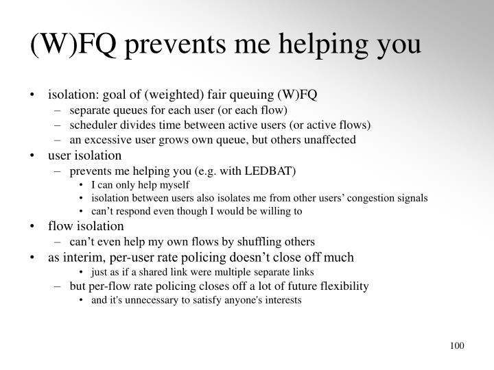 (W)FQ prevents me helping you