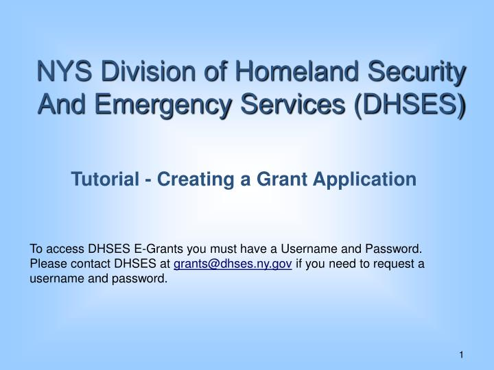 NYS Division of Homeland Security