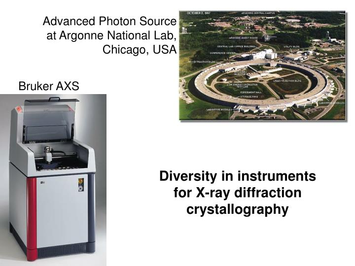 Advanced Photon Source at Argonne National Lab, Chicago, USA