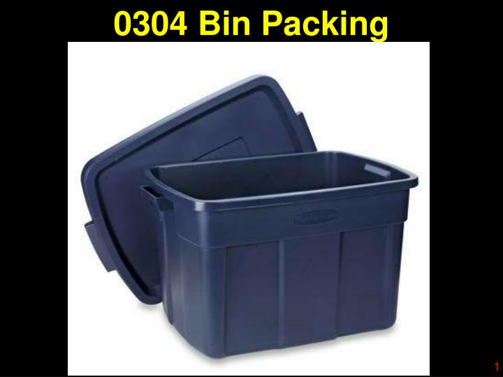 0304 bin packing