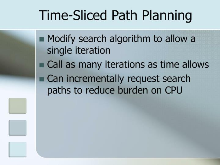 Time-Sliced Path Planning