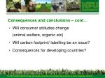 consequences and conclusions cont