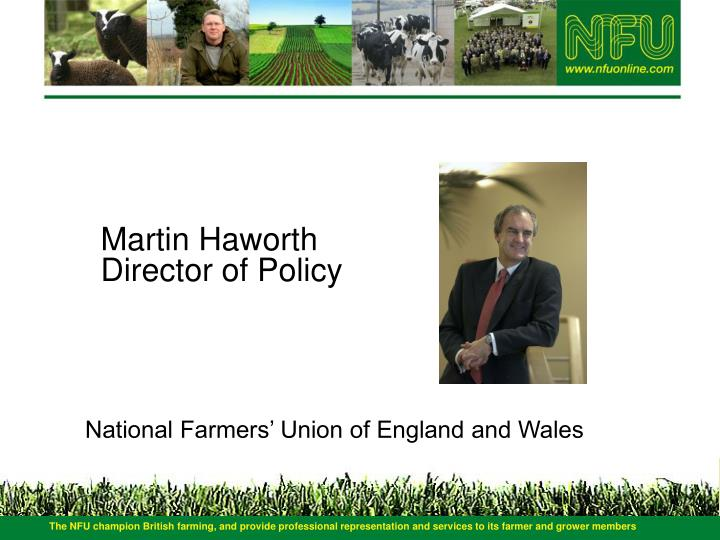 Martin haworth director of policy