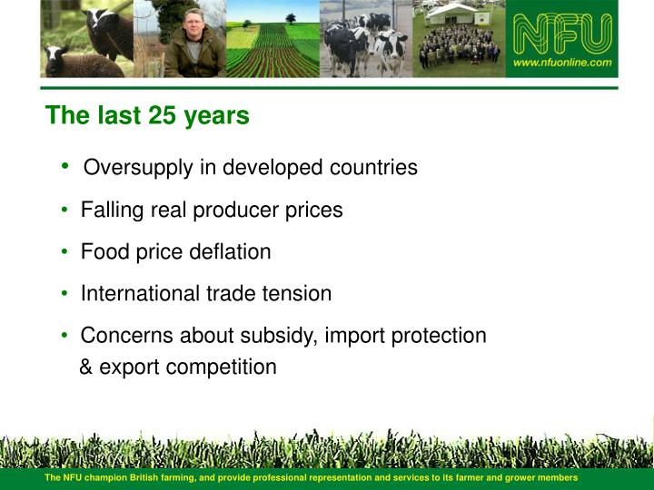 The NFU champion British farming, and provide professional representation and services to its farmer and grower members