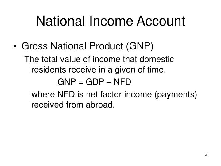 National Income Account