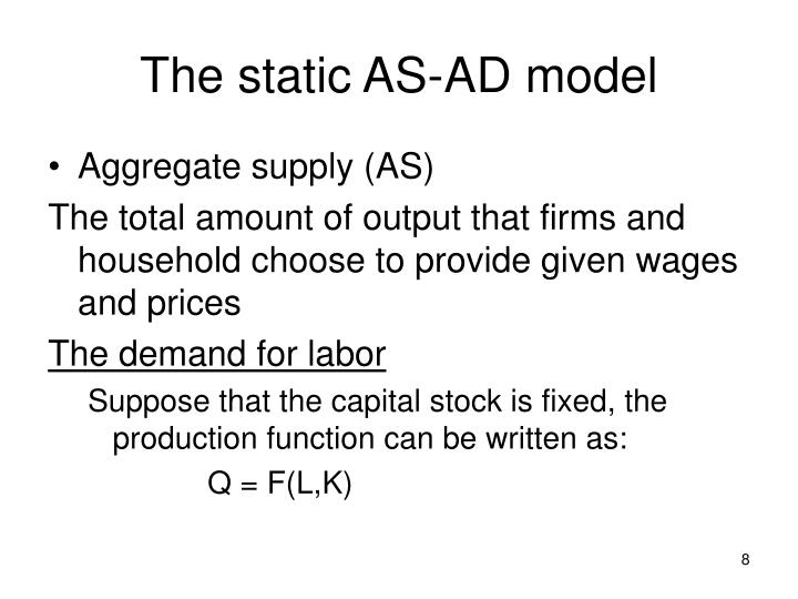 The static AS-AD model