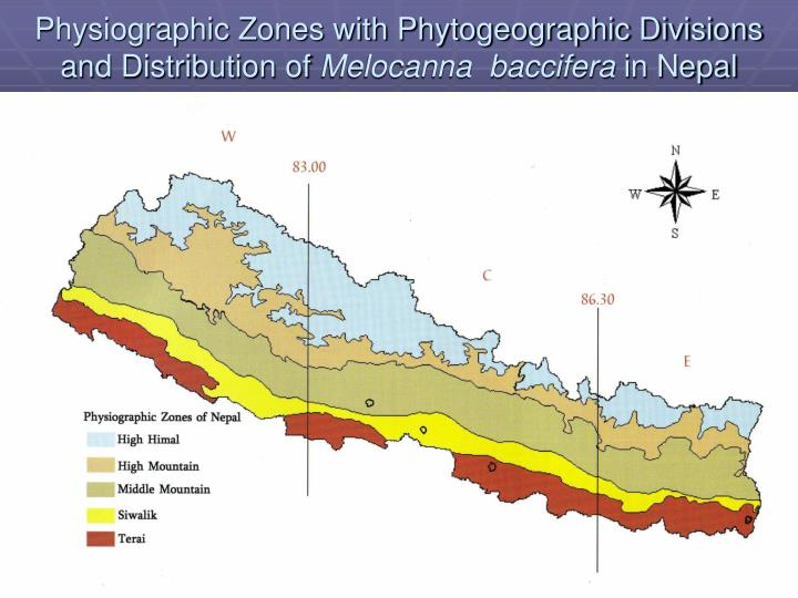 Physiographic Zones with Phytogeographic Divisions and Distribution of